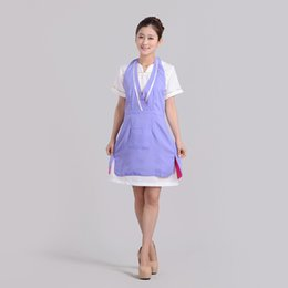 Wholesale Nail Aprons - Beauty salon beautician overalls apron Double nail Korean version of the work of foreign trade fashion wholesale the princess