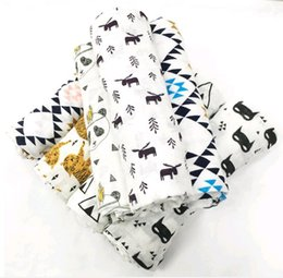 Wholesale Sleep Blankets For Infants - Baby Sleeping Bag Swaddle Wrap 100% Muslin Cotton soft baby envelope for newborns blanket sleepsack Miracle infant bedding