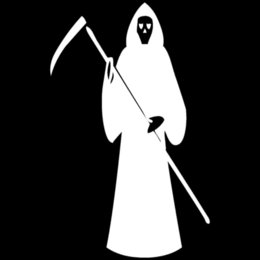 Wholesale Cheap Hair Glue - 14*22.4CM Grim Reaper Car Sticker Personality Funny Motorcycle Decorative Accessories Silver Black C4-0308 Cheap accessories hair