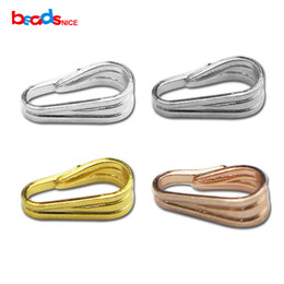 Wholesale Wholesale Pinch Bails - Beadsnice 925 Sterling Silver Snap on Bails Pendant Pinch Bails Simple Basic Classic DIY Handmade Findings ID 27435