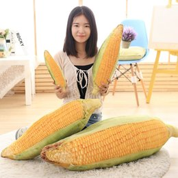 Wholesale Toy Corn - Wholesale- 1pc Big Size Kawaii 50cm&75cm Simulation Corn Cushion Pillow Rod Bean Plush Toys Corn Doll Small Stuffed Dollspillow Gift For Ki
