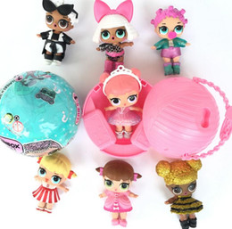 Wholesale Dancing Baby Toy - Surprise Doll LOL Baby Dolls Lovely Baby Dolls Sucking Dancing Unpacking Dolls Up Toys Surpris Funny Gift for Dress doll KKA2495