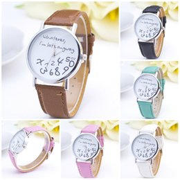 Wholesale Number Acrylic Watch - Watch Women NEW Fashion Big Number Women Watch 2016 Brand New Quartz Watch PU Leather Women's Watches