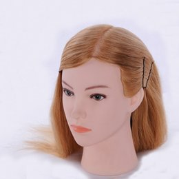 Wholesale Head Model For Hair - 100% High Femperature Fiber Hair 24'' Hair Salon Models Made Wigs Female Mannequin Head Display Training Head For Hairdressers