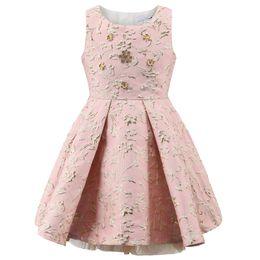 Wholesale Sheath Dress Kids - Baby Girls Dresses Kids Fashion Embroidered Sleeveless Elsa Dress Princess Sofia Dress Christmas Dress for Party and Wedding