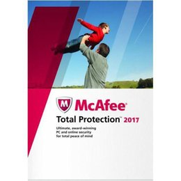 Wholesale Pc Dos - Latest Genuine McAfee Total Protection 2017 - 1 PC 1 Year Computer software anti-virus activation code Global Edition key Full work