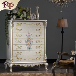 Wholesale Italian classic furniture Manufacturer Antique bedroom furniture luxury hand carved wardrobe solid wood frame chests of drawers