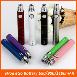 Wholesale Ecigs Batteries - E Cigs Evod Design Battery Box 650 900 1100 mAh 510 Ego Cigarette Vape Pen for MT3 Atomizer CE4 Vaporizer 1453 eCigs Kits