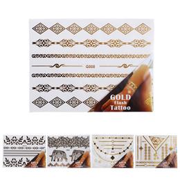 Deutschland 2017 New Style Body art 5 Teile / satz Temporäre disposablmetallic tatto Schmuck temporäre tattoos aufkleber Gold und silber Tattoo # supplier new hand sticker style Versorgung
