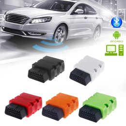 Wholesale Audi Computer Scanner - Wholesale- MINI Bluetooth Scanner V2.1 OBD2 OBDII For Android Computer Torque Car Code Scanner Auto Diagnostic Tool Scaner Automotriz A103