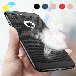 Wholesale Scrub Phone Covers - Heat dissipation phone case For Apple iPhone 5 5s 6 6s Case Scrub Texture hard PC For iPhone 5 6 6s 7 Plus phone case covers
