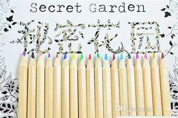 Wholesale 24 36 Painting - Secret Garden coloring pencils 12 & 18 & 24 & 36 colors Enchanted Forest Painting pens Colored pencils Writing tools colouring pencils