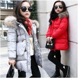 Wholesale Children S Winter Hats Girls - Children 's clothing 2016 Winter new children' s thick cotton jacket Korean girl 's long coat girl coat