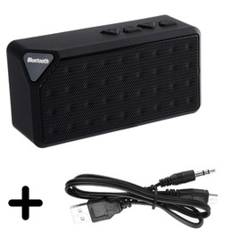 Wholesale Portable X3 Mini Bluetooth Speaker - Wholesale- X3 Portable Mini Bluetooth Speaker X3 TF USB FM Radio Wireless Music Sound Box Subwoofer Loudspeakers with Mic for iOS Android