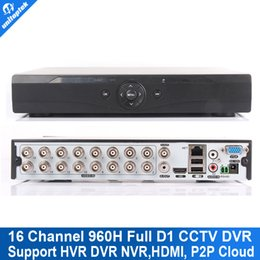 Wholesale Cctv D1 - 16CH 960H (AHDL) Full D1 CCTV DVR Real time Recording Hybrid NVR Video Recorder 16 Channel Recorder HDMI 1080P Output P2P Cloud