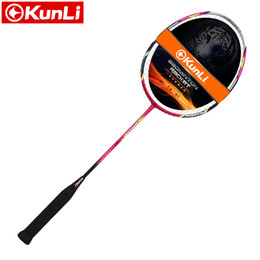Wholesale full attack - Wholesale- original KUNLI official badminton racket 5U 79g FORCE79 full carbon Ultra light attack racket professional feather racket