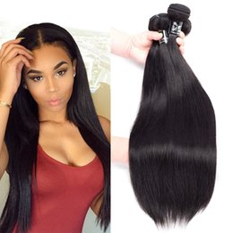 Wholesale Thick Bundle Brazilian Hair - 8A Grade Brazilian Virgin Hair Straight 8-26 inches 3pcs lot Unprocessed Brazilian Straight Human Hair Silky Straight Thick Bundles