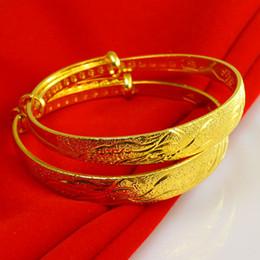 Wholesale Dragon Ring Bracelet Set - 999 India - Imitation Gold Bangle Bracelets female dragon gilded 24K retro Bride Wedding Jewelry