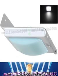 Wholesale 24 Ac Power - Free shipping 24 LED Wireless Solar Power Motion Sensor Garden Security Lamp Outdoor Waterproof Light LLFA