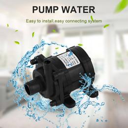 Wholesale High Water Pump - 2017 Alta Qualidade 12 V Bomba Diafragma Alta Pressão Água 500L h Bomba de Água Em Miniatura de Corrente Contínua Sem Escovas