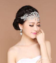 Wholesale Head Married - Bride Frontal Angel Korean Frontal Diamond Decoration Married Crown Head Ornaments Drop Hair Wedding Accessories Between Brows