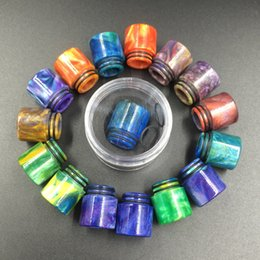 Wholesale E cigarettes Ecigs Vaporizer TFV8 Drip Tip Epoxy Resin Drip Tips for SMOK TFV8 Pretty pattern resin drip tips Mouthpiece Ecigarettes