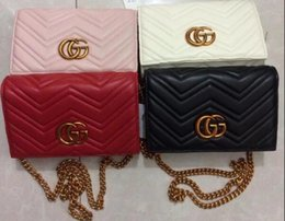 Wholesale Casual Cross Body Bag Woman - Double G new ladies shoulder bag Messenger bag summer handbags chain package