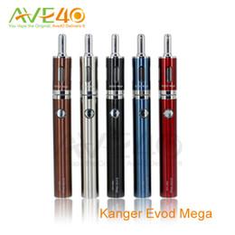 Ego tanque mega on-line-Kanger Evod Mega E Cigarro 2.5 ml Tanque Atomizador 510 Tópico Eletrônico Cigarro Ego Bateria 1900 mAh 100% Original Frete Grátis AVE40
