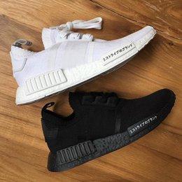 Wholesale Arrival Japan - 2017 NMD Runner R1 boost Japan Triple black Triple white Men Running Shoes Women Sport Sneakers Primeknit shoes size US 5-11 New arrival