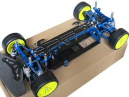 Wholesale Tamiya 4wd Kit - Alloy & Carbon TAMIYA TT01 TT01E Shaft Drive 1 10 4WD Touring Car Frame Kit frame slider