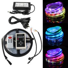 Tira de cambio de color led remoto online-Impermeable 5M 5050 RGB Dream Color 6803 IC LED Strip Light 133 Change RF Remote