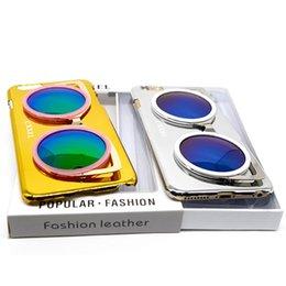 Coperture fredde del telefono per il iphone online-Casi di iphone di vetro 3D per Apple iphone 5 6 6 più casi di copertura dura del telefono posteriore Cool Bling con la nave veloce di DHL