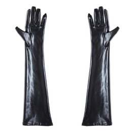 Wholesale Long Sex Woman - New Arrival 3 Colors Long Shellack Gloves Women Master Fetish BDSM Sex Game Toys Free Shipping