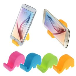 Wholesale Elephant Phone Stand - Fashion 2016 Elephant Style Phone Holder Slot Stand For Phone Free Shipping Snowall