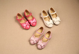 Wholesale Child Girl Summer Bow Shoes - New Style Children Flat Shoes For Girls Kids Sweat Princess Shoes With Imitation color And Bow Beautiful Lovely sandals wholesale price