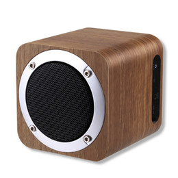 Wholesale Wooden Pc Speakers - Wholesale- iLEPO i7 Wooden Wireless Speaker Bluetooth 4.0 with FM Radio 1800mAh Battery,AUX,Multi-function Fashionable Design for Phone PC
