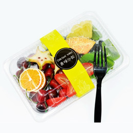 Wholesale Heat Resistant Box - Classical Disposable Lunch Box With Clear Cover Bento Boxes Multi Function Eco Friendly Salad Lunchbox Heat Resistant 1zq B R