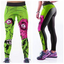 Wholesale Female Bodybuilding Fitness - Running Yoga Pants Fashion Female Bodybuilding Trousers Fitness High Elasticity Sports Leggings 3D Digital Printing Europe LNASlgs