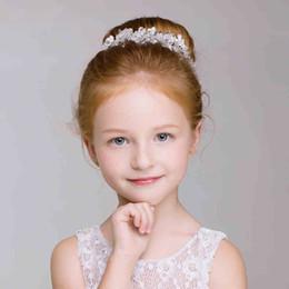 matrimoni perla Sconti Absolutely Gorgeous Flower Girls Head Pieces Crystal Accessori per bambini Per matrimoni Perle per ragazze Abbigliamento formale In magazzino