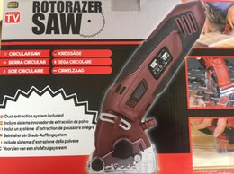 Wholesale Wood See Saw - 2018 New Spring Promotion ROTORAZER SAW ALL-IN-ONE Precise Mini circular Wood Electronic Saw Rotorazer electric saw DHL Quick Shipping