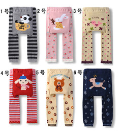 Wholesale Leopard Ribbon Wholesale - 6 pcs lot NEW Arrival Children Kids PP Pants Long Trousers Cartoon Legging Cotton Baby Boys Girls LC0783-53 mix color mix design