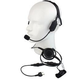 Wholesale Headset Icom - Finger PTT MIC Military Bone Conduction Tactical Headphone Headset for ICOM V8 F3 F4S Vertex VX-510 Radio Walkie Talkie C2216A