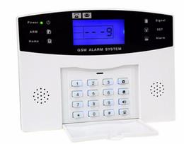 Wholesale- DZX-AS05 Gsm Alarm System Panel English Russian Voice Operation alarm Host Home Security Burglar Alarm Gsm supplier security alarm panels от Поставщики панели охранной сигнализации