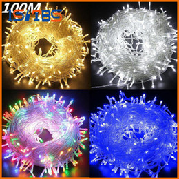 Wholesale Patio Red - 20M 30M 50M 100M LED string Fairy light holiday Patio Christmas Wedding decoration AC220V 110V Waterproof outdoor light garland