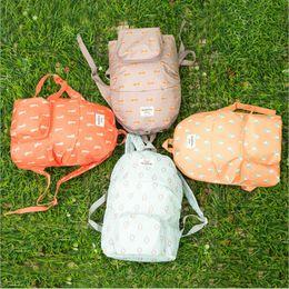 Wholesale Travel Bags Korea - wholesale new men women hot animal waterproof Storage travel Cartoon fold backpack Shoulders school bag printing Korea free shipping