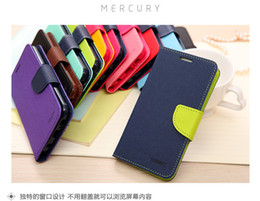 Wholesale Mercury Flip Case - Hot Mercury Wallet Mercury Flip PU Leather Cover For iPhone 5 5s SE 5c 6 6s 7 with retail packing