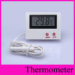 Wholesale Fishing Controller - Digital Thermometer 1 Meter Line Embedded Thermograph Professinal Mini LCD Temperature Sensor Controller Fish Tank Thermometer -50~110C