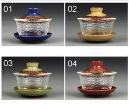 Wholesale Tea Glass Travel - Chinese kungfu gai wan teaset China glass Tea Sets Dehua gaiwan tea porcelain teapot tea set for travel Beautiful easy kettle