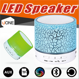 Wholesale Mini Speaker Metal - Bluetooth Speakers LED A9 S10 Wireless speaker hands Portable Mini loudspeaker free TF USB FM Support sd card PC with Mic