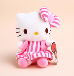 Wholesale Valentines Days Stuffed Animals - 18 Design Hello Kitty Stuffed Animals toy Cute plush Cat Soft gift Toys Girls Anime Dolls Birthday Valentines Gifts KT Cat doll